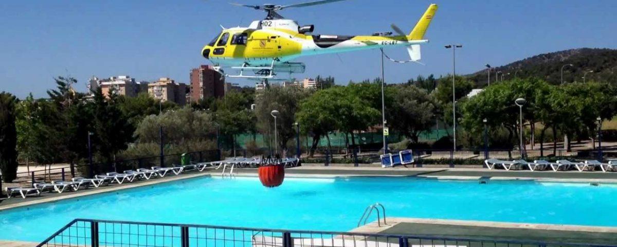 heli en zwembad